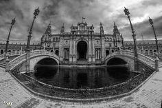 Plaza de España, Sevilla. fisheye