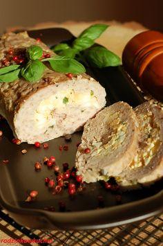 Pieczeń z mięsa miellonego z farszem Ham Recipes, Easter Recipes, Cooking Recipes, Polish Recipes, Catering, Food And Drink, Yummy Food, Breakfast, Diet