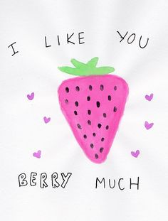 AW this made me think of my baby girl, she is getting so big so fast! She loves strawberries