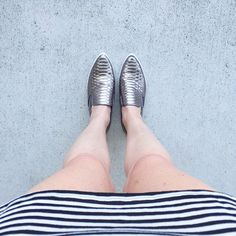 NEW NEW Iconic Sneaker now in stock $36! Most amazing silver metallic slip on snakeskin sneaker with a slightly pointed toe #slipon #sneaker #metallic #snakeskin #iconic #shoesoftheday