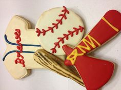 Atlanta Braves baseball cookies