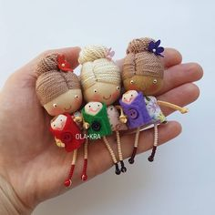 Tiny Dolls, Soft Dolls, Diy And Crafts, Arts And Crafts, Sewing Toys, Doll Crafts, Fabric Dolls, Softies, Craft Gifts