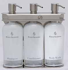 Four Seasons are using our fixtures! Our shampoo soap dispensers are perfect to reduce plastic waste into our world!