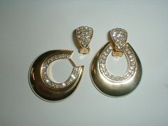 convertible earrings pave crystals gp by fadedglitter42263 on Etsy, $32.00