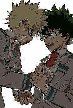Katsuki, Izuku, fighting; My Hero Academia