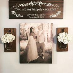 Ideas wedding photos wall display home decor for 2019 Canvas Wedding Pictures, Wedding Picture Walls, Wedding Canvas, Wedding Pics, Wedding Ideas, Wedding Art, Wedding Frames, Trendy Wedding, Fall Wedding