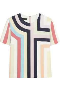 Mother of Pearl + Jim Lambie striped silk top