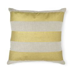 Wide Stripe Cushion - Gold