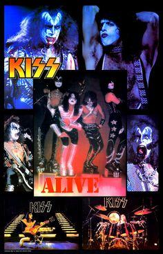KISS Collectibles KISS Memorabilia KISS Love Gun Alive 2 Era Group Collage Stand-Up Display Kiss Army Kiss Poster Retro Kiss Gift Idea