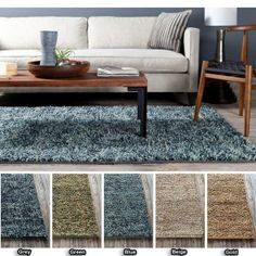 "Handwoven Mandara Contemporary Wool Shag Rug (5' x 7'6"")  Shopping - The Best Deals on 5x8 - 6x9 Rugs"