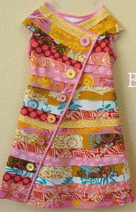 Bright Bias and Buttons dress-cute little girls dress--would be cute with coordinating colors too.