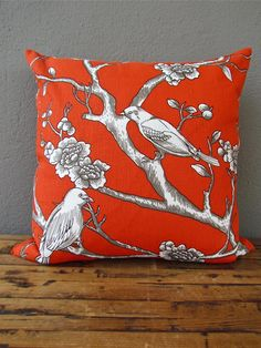 vintage blossom pillow from red in fred