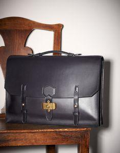 0713de24393b DUNHILL Duke Flap Briefcase BRIEFCASES Man f Men s Briefcases