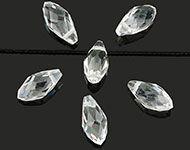 www.sayila-perlen.de - Glasperlen Kristall Tropfen 13x6mm - D24705
