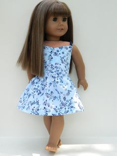 American Girl Doll Clothes   Blue Floral Wrap Top by 18Boutique, $20.00