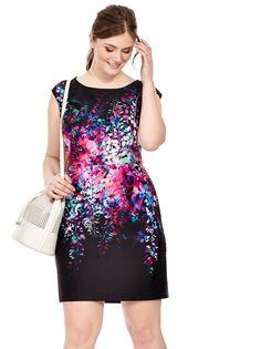 Julia Jordan | Floral Reflection Sheath Dress | Gwynnie Bee