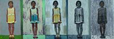 "Тарасова А.А.      ""Девченка Цаган-Аман"". 2012 Холст, акрил. 44Х26"
