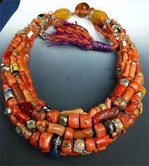 museum quality coral Berber necklace - beautifully constructed out of a rich amalgam of antique coral, Berber silver beads, and various antique glass African trade beads. Tribal Jewelry, Turquoise Jewelry, Boho Jewelry, Jewelry Art, Antique Jewelry, Beaded Jewelry, Jewelery, Vintage Jewelry, Jewelry Necklaces