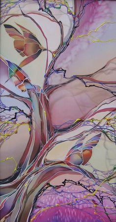 Hand Painting Art, Fabric Painting, Fabric Art, Painted Coffee Mugs, Batik Art, Spirited Art, Alcohol Ink Painting, Silk Art, Fashion Painting