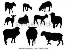 Sheep silhouette Stock Photos, Illustrations, and Vector Art