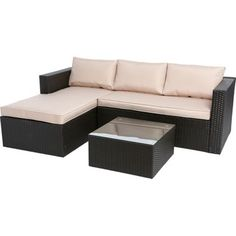 Garden Furniture Homebase mali rattan garden corner sofa | house - garden | pinterest | gardens