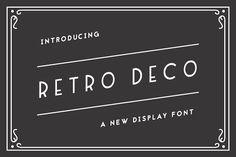 Retro Deco by The Routine Creative on @creativemarket