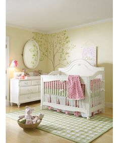 Found our baby Girl room!!! not such a bright yellow don't want to hurt baby's eyes!