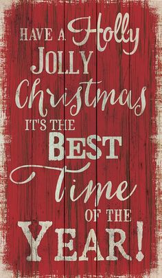 Have a Holly Jolly Christmas! It's the Best Time of the Year! #walldecor #art