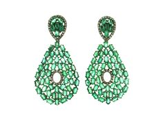 Emerald & Diamond Earrings.