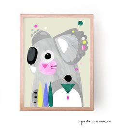 This is a fine art print from the original 'Koalala' Artwork by Pete Cromer…