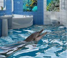 Cool things to buy Dolphin Feeding 182 Floor Mural Wallpaper AJ Wallpaper 2 Updated Bathrooms Pay 3d Floor Art, Floor Murals, Wall Murals, Sol 3d, 3d Flooring, Floors, Vinyl Doors, Floor Wallpaper, Custom Wallpaper