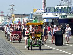 This image captures the essence of how great the family atmosphere is.  This image is the boardwalk and also shows how much activity there is down there.  This will be helpful because I can recall my memories and  also how family friendly it is.