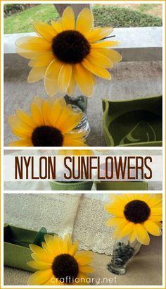 nylon flowers #stocking_flowers
