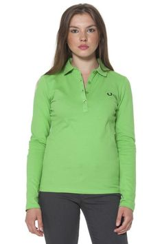 Polo Donna Fred Perry (BO-31162056 0219) colore Verde