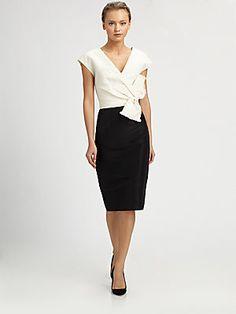 Carolina Herrera Silk Faille Dress