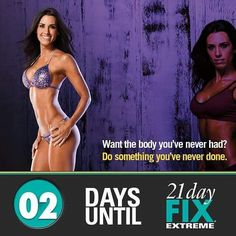 """2 more days you guys until 21 Day Fix Extreme big Launch!    Who will be joining me on this challenge.  Support /  Accountability group starting Feb 9th. Comment below """"I'm in"""" to reserve your spot. Or message me on Facebook / GetFitwithJanetTeamMarrero"""