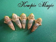 Kewpie Magic, The Follies Set of 5, Embellishments, Lisa Kettell Designs by LisaKettellDesigns on Etsy https://www.etsy.com/listing/217316378/kewpie-magic-the-follies-set-of-5