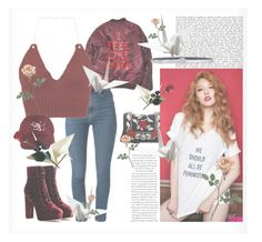 """""""Hyuna - Red Inspired"""" by adnqmu on Polyvore featuring mode, Yves Saint Laurent, Miu Miu, Jimmy Choo en Orciani"""