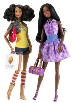Amazon.com : Barbie So In Style It Takes Two - Love 2 Shop Trichelle And Chandra Dolls : Fashion Dolls : Toys & Games