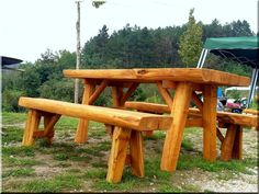 Chair Bench, Picnic Table, Pergola, Furniture, Home Decor, Trunks, Homemade Home Decor, Home Furnishings, Picnic Tables