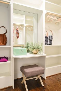 It's Bath Time | Young House Love  Desk or vanity space in walk-in closet