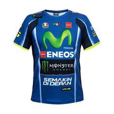 Valentino Rossi Moto GP Yamaha Racing Replica T-shirt Official 2017 Valentino Rossi Tattoo, Valentino Rossi Yamaha, Monster Energy, Motogp, Vr46, Tee Shirts, Tees, Sport T Shirt, Leather Men