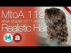 MtoA 119 | Realistic Hair Shading | using Arnold with Maya 2017 - YouTube