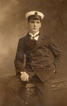 +~+~ Antique Photograph ~+~+  Handsome Edwardian sailor.   (yeaaah...not my caption lol)