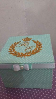 Caixas de mdf forrada com tecido personalizada