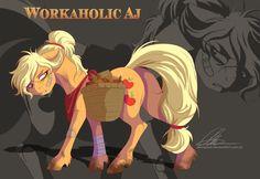 Workaholic+Applejack+by+dennybutt.deviantart.com+on+@DeviantArt