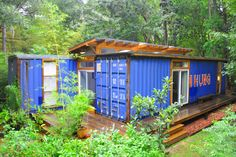 Artist Julio Garcia completes a one bedroom container home for himself in Savannah, GA under his new shipping container design/build firm, Price Street Projects.