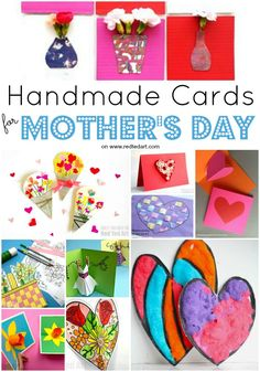 Mother's Day Cards to Make - nothing quite like a homemade card for Mother's Day! Mum will love all these gorgeous Mother's Day Card designs. Take a peak now and plan some ideas to make! Love Pop Up Cards, Heart Pop Up Card, Heart Cards, Mothers Day Gif, Mothers Day Crafts, Paper Crafts For Kids, Crafts For Kids To Make, Easter Crafts, Kids Cards