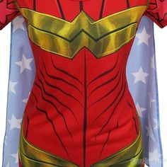 The Wonder Woman Sublimated Caped Women