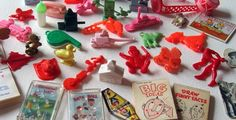 Cracker Jack toys childhood-memories, when the prizes were cool!  Not paper junk